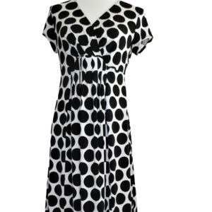 Motherhood Maternity Polka Dot Dress Empire Waist